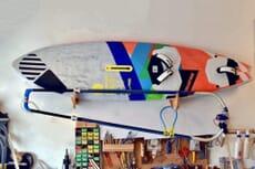Windsurf Wall Rack with boom holder